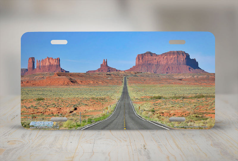 "Airstrike® 259-""Monument Valley Utah"" Butte License Plates"