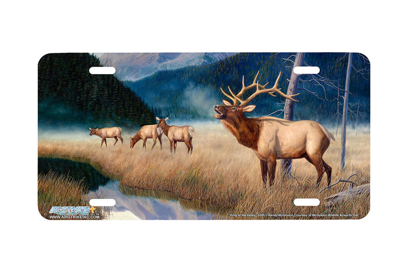 "Airstrike® 5245-""King of the Valley"" Elk License Plate"