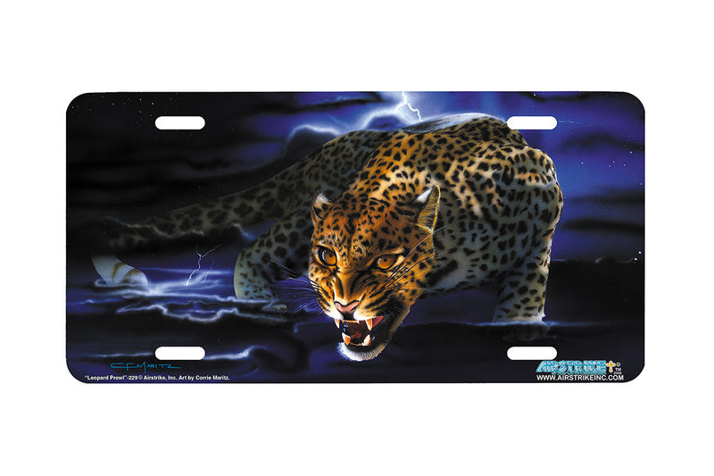 "Airstrike® 229-""Leopard Prowl"" License Plate"