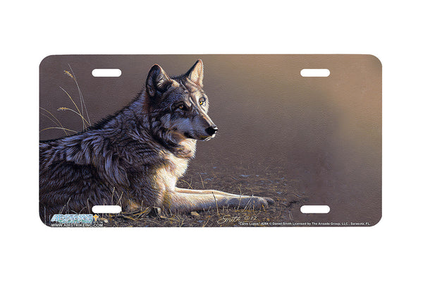 "Airstrike® Wolf License Plate 8264-""Canis Lupis""-Wolf License Plate"