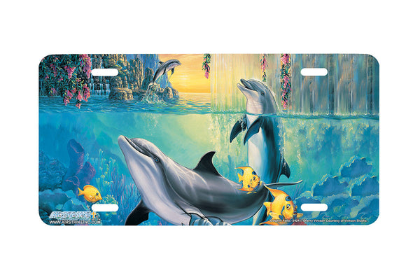 "Airstrike® Dolphin License Plate 3404-""Dolphin Falls"" Dolphins License Plate"