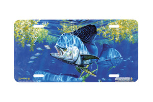 "Airstrike® Fishing License Plates 5001-""Dolphin and Jacks"" License Plate"