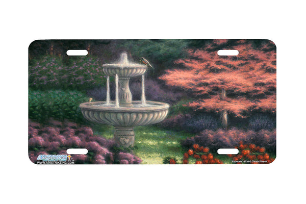 "Airstrike® 3720-""Fountain""-Garden License Plate"