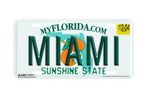 "Airstrike® 603-""Florida State Plate Miami""-License Plate"