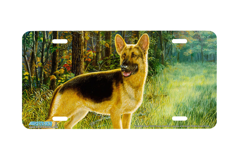"Airstrike® 5342-""Guardian Angel"" German Shepherd Dog License Plate"