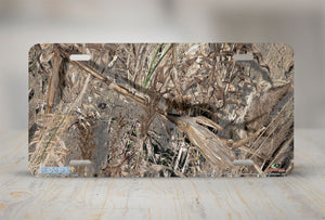 "Airstrike® Mossy Oak License Plate 8016-""Duck Blind Camo""-Mossy Oak Camo License Plate"