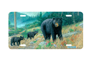 "Airstrike® 5249-""Bearly Climbing"" License Plate"