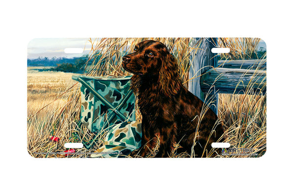 "Airstrike® 5355-""Dove Dream"" Boykin Spaniel Dog License Plate"