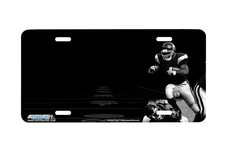 "Airstrike® 390-""Football Player"" Football Players License Plates"