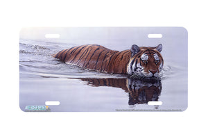 "Airstrike® 8284-""Tiger in Water""-Tiger License Plate"
