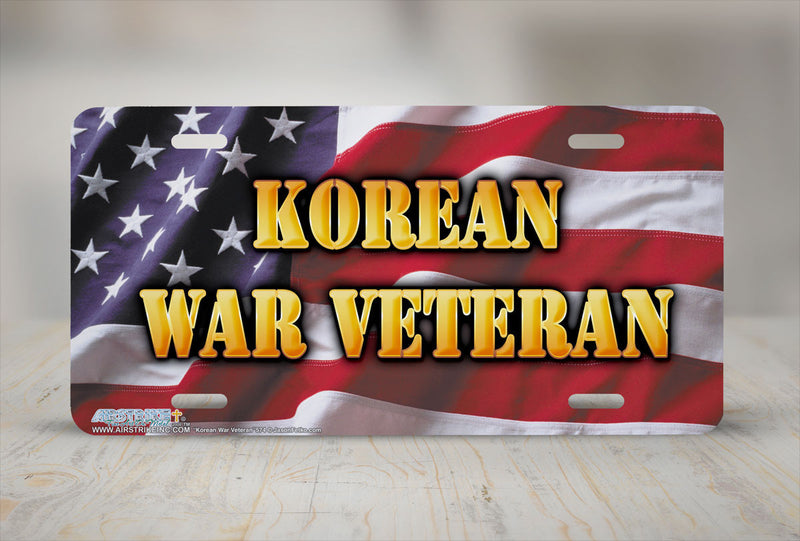 "Airstrike® 574-""Korean War Veteran"" Military License Plate"