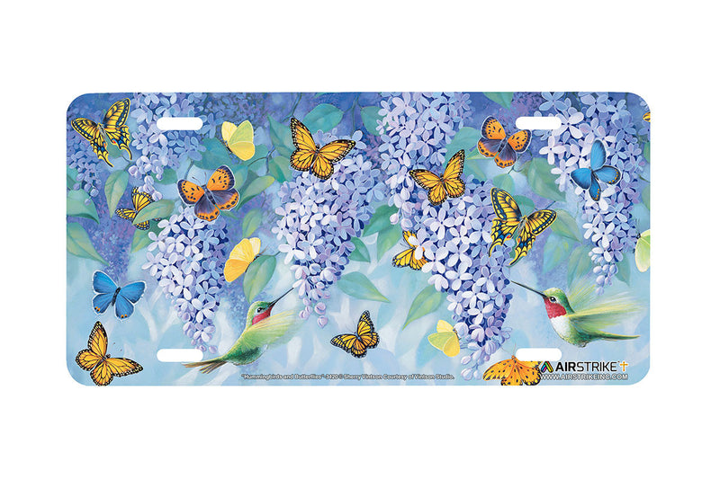 "Airstrike® Butterfly License Plate 3420-""Hummingbirds and Butterflies"" Hummingbird and Butterfly License Plates"