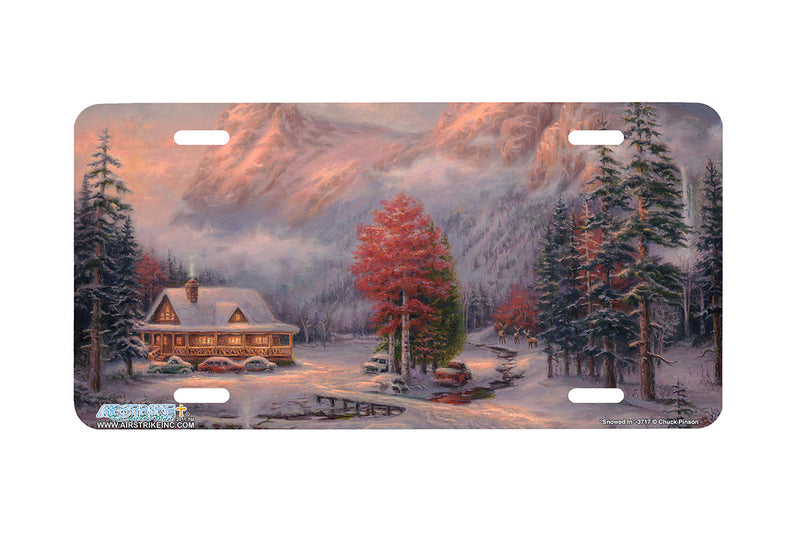 "Airstrike® 3717-""Snowed in""-Cottage License Plate"
