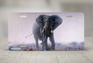"Airstrike® 8216-""Denizen of the Mist""-Elephant License Plate"