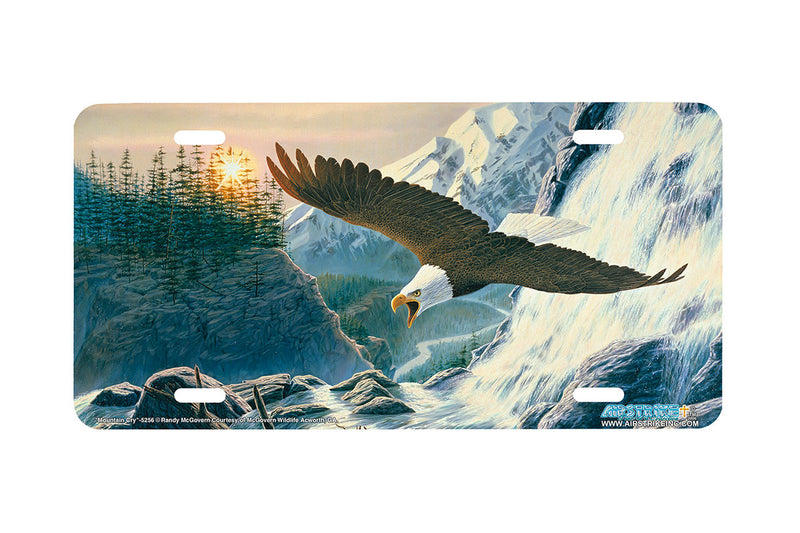 "Airstrike® 5256-""Mountain Cry"" License Plate"