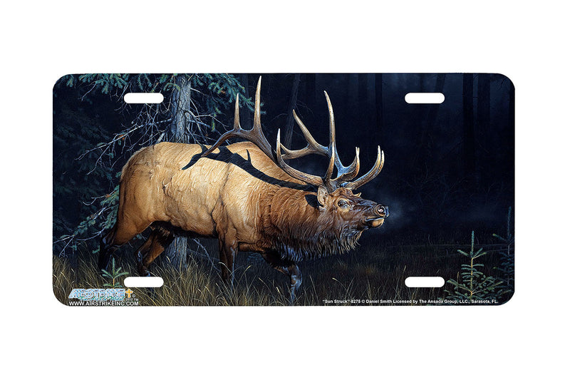 "Airstrike® 8275-""Sun Struck""-Elk License Plate"