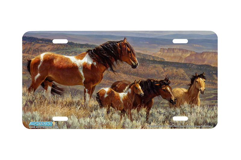 "Airstrike® 6520-""The Whispering Wind"" Horse License Plates"