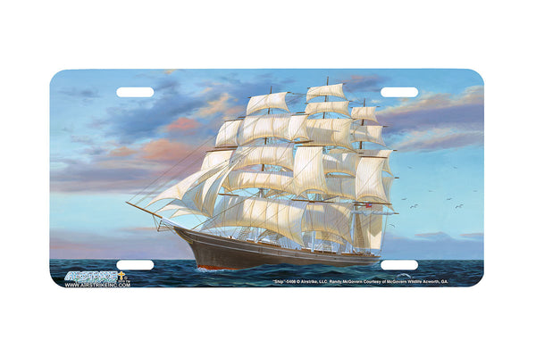 "Airstrike® Fishing License Plates 5408-""Clipper Ship"" Nautical License Plate"