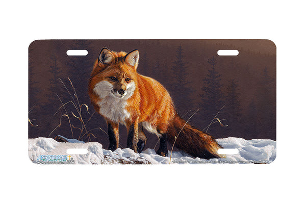 "Airstrike® Fox License Plate 8290-""Radiant Red""-Fox License Plate"