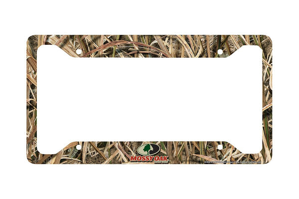 Airstrike® Camo License Plate Frame, Mossy Oak Car Tag Frame, Camo License Plate Holder, Mossy Oak License Plate Frame Shadow Grass Blades-30-8039