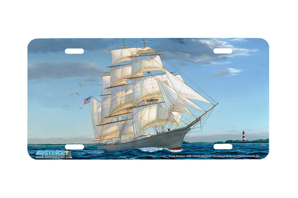"Airstrike® Sailboat License Plate 5289-""Young America"" License Plate"