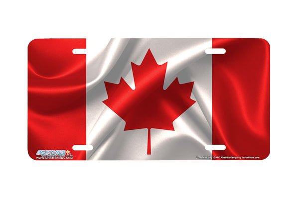 "Airstrike® 298-""Canadian Flag"" Flag of Canada License Plates"