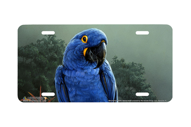 "Airstrike® 8226-""Blue Parrot""-Parrot License Plate"