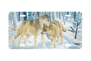 "Airstrike® Wolf License Plate 5254-""Snugglers"" License Plate"