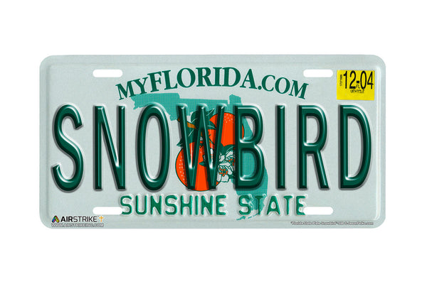 "Airstrike® 598-""Florida State Plate Snowbird""-License Plate"