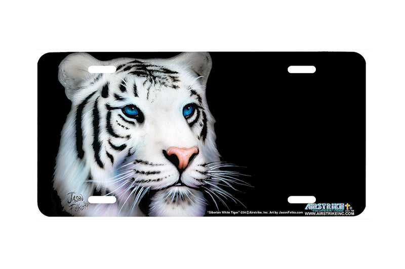 "Airstrike® 234-""Siberian White Tiger"" License Plate"