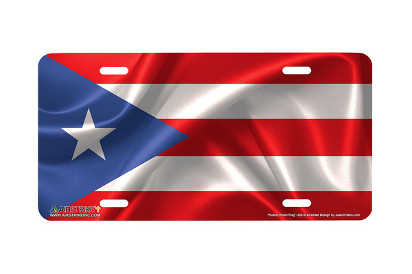 "Airstrike® 253-""Puerto Rican Flag"" Puerto Rican Flag License Plates"