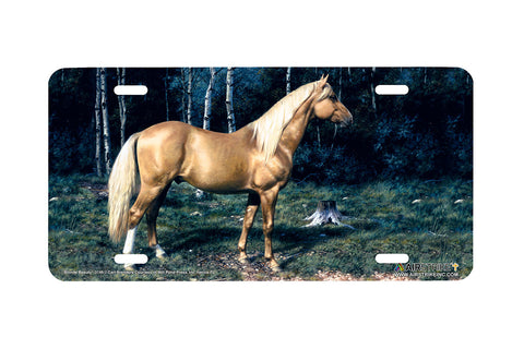 "Airstrike® 3149-""Blonde Beauty"" Horse License Plates"