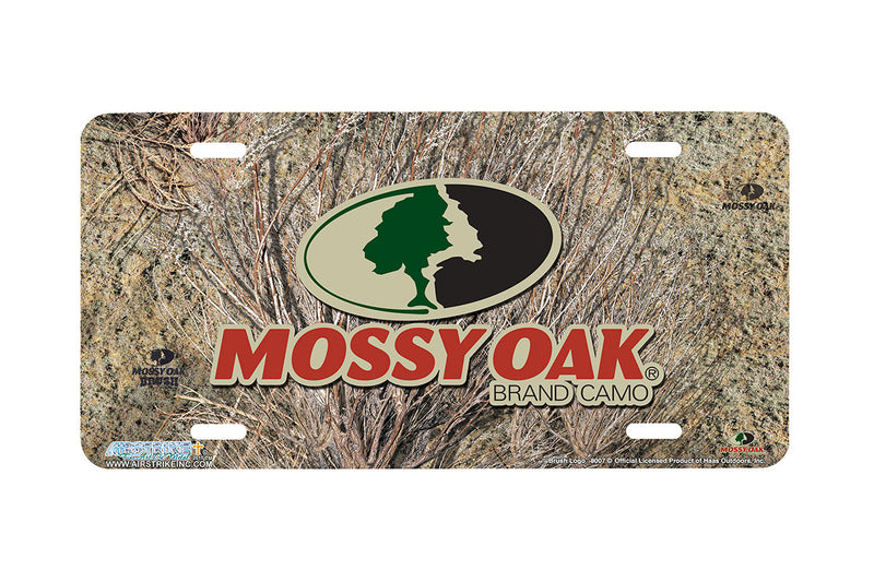 "Airstrike® Mossy Oak License Plate 8007-""Brush Logo""-Mossy Oak Camo License Plate"