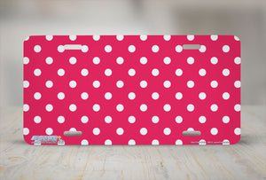 "Airstrike® 369-""Red Polka Dots"" Polka Dot License Plates"