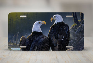 "Airstrike® 8240-""Dawns Early Light""- Eagle License Plate"