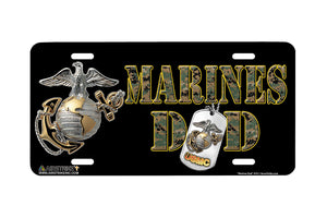 "Airstrike® Marine Corps License Plate Marine License Plate ""Marines Dad""-474"