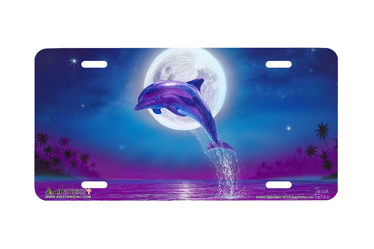 Airstrike Dolphin License Plate Dolphin Car Tag Dolphin Front License Plate Dolphin Decorative License Plate 673