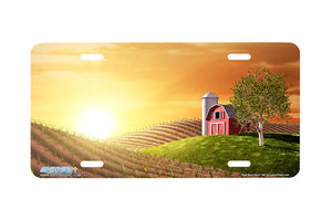 "Airstrike® 361-""Red Barn Farm"" Red Barn License Plates"
