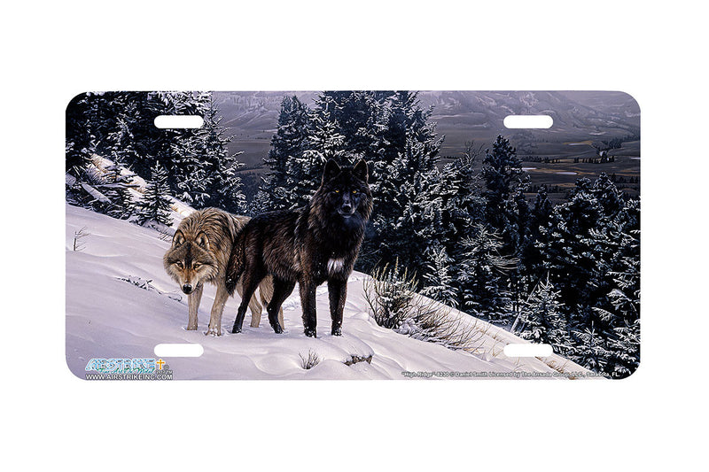 "Airstrike® Wolf License Plate 8230-""High Ridge""- Wolves License Plate"
