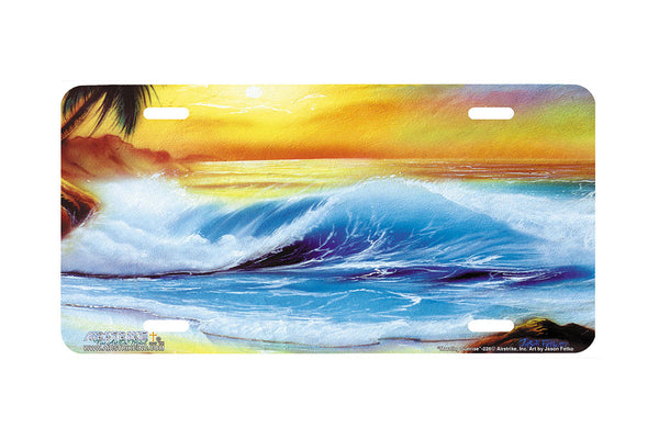 "Airstrike® Beach License Plate 228-""Morning Sunrise"" License Plate"
