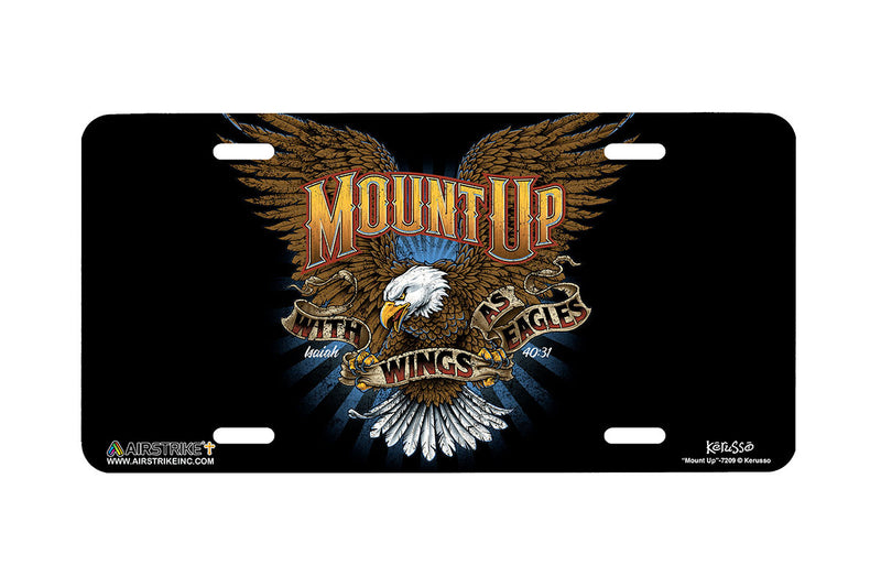 "Airstrike® Christian License Plate 7209-""Mount Up""-Christian License Plate"