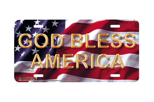 Airstrike® God Bless America License Plate-237