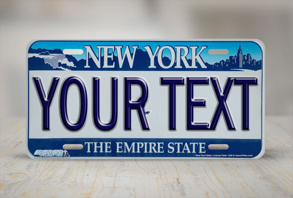 Airstrike® New York License Plates NY Custom State License Plate-549