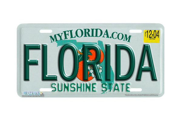 "Airstrike® 617-""Florida State Plate Florida""-License Plate"