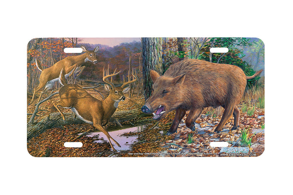 "Airstrike® 5398-""Deer and Hog"" Deer and Hog License Plate"