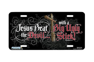 "Airstrike® Cross License Plate 7219-""Big Stick""-Christian License Plate"