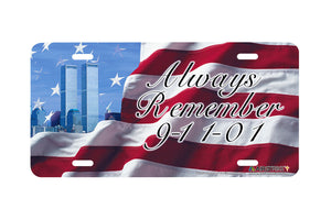 "Airstrike® 240-""Always Remember"" License Plate"