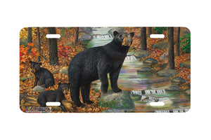 "Airstrike® 5418-""Bearly Morning""-Black Bear License Plate"