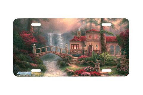 "Airstrike® 3701-""Siera River Falls""- Cottage License Plate"