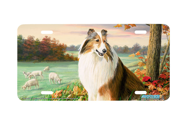 "Airstrike® 5343-""The Sentinel"" Shetland Sheepdog License Plate"